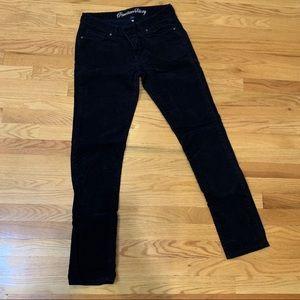 Gap navy blue corduroy skinny pants